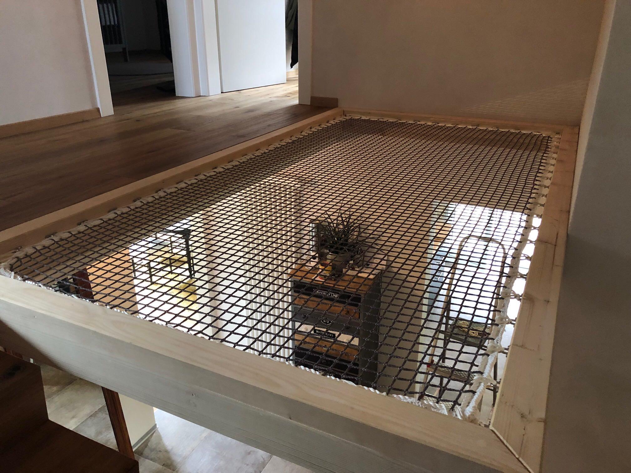 filet de s curit mezzanine filet de protection d 39 habitation int rieur pour mezzanine et garde. Black Bedroom Furniture Sets. Home Design Ideas