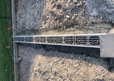 Mise en place des Aco drain