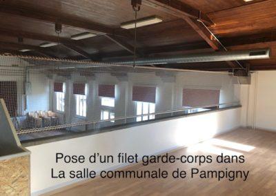 Filet garde-corps salle communale