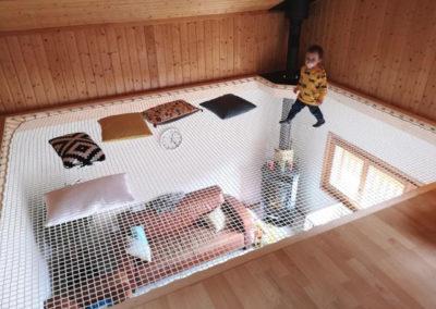 Filet de sécurité mezzanine enfant